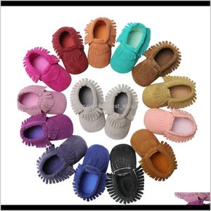 Walkers Baby, Kids & Maternity Drop Delivery 2021 Toddler Suede Leather Born Baby Boy Girl Moccasins Shoes Fringe Soft Soled Non-Slip Crib Fi