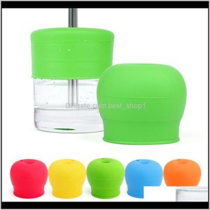 Drinkware Kitchen Dining Bar Home Garden Drop Delivery 2021 Water Lid Baby Leakproof Sile Bottle Cap Antispilled Toddler Drinking Leaning St