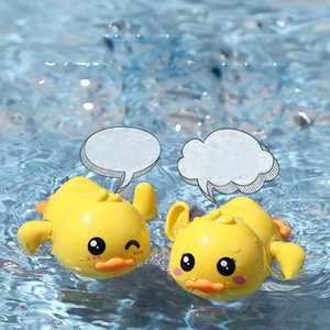 Fashionable little yellow duck with wind-up automatic swim baby bath outdoor good toys sand play water fun
