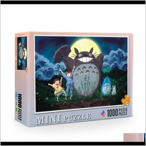 Arts Crafts Gifts Home Garden Drop Delivery 2021 3826Cm Japanese Cartoon Puzzle Jigsaw 1000 Pieces Paintings Educational Game For Adult Teens