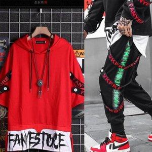 Men's Tracksuits Two-piece Suit Long Sleeve Sweatshirt + Overalls Men Hip-hop Loose Jacket Tops Clothes And Pants Sweatpants Set For Boys
