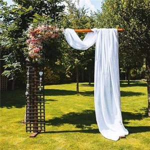 Curtain & Drapes 1.5x5.5m Wedding Arch Fabric Party Chiffon Chair Cover Backdrop Drapery Ceremony Reception Swag