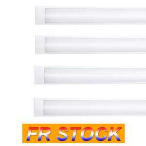 FR UK Stock 3ft Shop Light Fixture 48W LED Tube Lights 4800lm 6000K 4000K 3000K 3 color temperatures Lightss 120cm Garage Closet Lighting for Office Home Basement