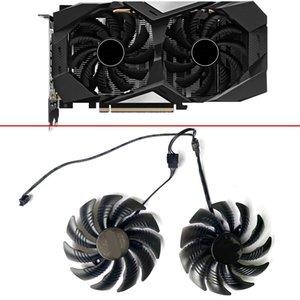 Fanlar Soğutma 2 ADET PLD09010S12HH T129215SU 87mm 4pin RTX2060 Isı Emici Gigabayt GeForce OC 6G GV-N2060OC-6GD Soğutma Için GPU Fan