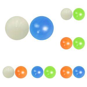 Stick Wall Fluorescent Squash Xmas Sticky Target Ball Decompression Throw Fidget Toy Kids Gift Novelty Stress 4WWG