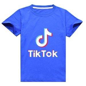 Tiktok Letters Print Summer Tshirts For Children Tik Tok Kids Fashion Trendy Cotton T Shirt Baby Boys Girls Short Sleeve T-shirt Tee G62NBDQ
