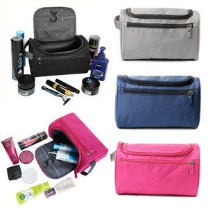 Womens Mens Waterproof Storage Bag Makeup Organizer Nylon Cosmetic Case Zip Closure Holders Boxes & Bins