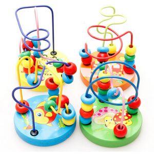 Baby Toddler Educational Lovely Animals Round beads Kids Toys For borns Children Cribs Stroller Mobile Montessori 9*11cm