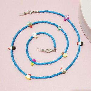 Sunglasses Frames Women Men Acrylic Colorful Beads Adjustable Eyewear Holder Glasses Chain Necklace Strap Lanyards
