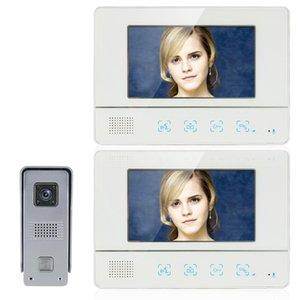 Inch TFT Touch Screen Video Door Phone Doorbell Intercom Kit 1-camera 2-monitor Night Vision Phones