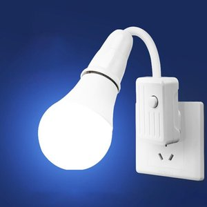 Lamp Covers & Shades LED Night Light With Button Wall Plug In Bedroom Decor Socket Lamps For Closet Aisle Hallway Pathway