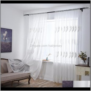 & Drapes Tulle Curtain Living Room Bedroom Sheer For Kitchen Modern Embroidered Window Screening Voile Curtains 3Etsd Cc4Te