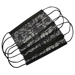 Party Masks Lace Disposable Face Mouth Cover 3 Ply Breathable Dustproof Protective Designer Mask CAYB
