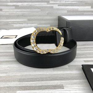 Trendy Strass Cinture Lettera Cintura Diamante Cintura in vera pelle per uomo Donne Ceinture Cinturino in cristallo Cinture alfabeto