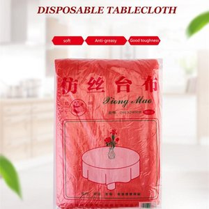 Disposable Table Covers Tablecloth Oil-proof Water-proof BBQ Safe Hygienic Cover Imitation Silk Large Picnic Plastic Cloth Party