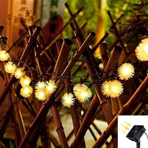 7M30led solar snowflake light string fairy light christmas outdoor dwaterproof water for holiday party wedding room