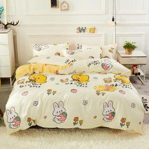Bedding Sets 3pcs 4pcs Cartoon Soft Duvet Bed Cover Comforter Flat Sheet Free Pillowcases Twin Full Queen King Size