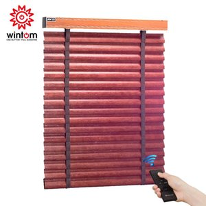 Copy2 Electric Wooden Shutter Shades Blinds Roller For Bedroom Balcony Living Room Home Window Size Customizat