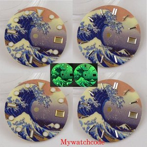 Repair Tools & Kits 28.5mm Watch Dial Wave Patter Fit NH35A Automatic Movement Date Window Luminous Wristwatc Parts