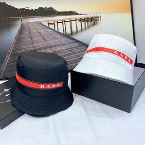 2021 Klasik Moda Kırmızı Kova Balıkçı Şapka Siyah Ve Beyaz İki Renkli Moda Aksesuarları