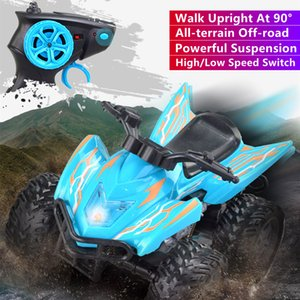 All-terrain Off-road Upright Drive RC Car Powerful Suspension Dual Speed Switch LED Highlight Remote Control Motorcycle RC Toy
