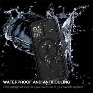 IP68 Waterproof Bracket Phone Case for iPhone 12 Pro Outdoor Sports Sturdy Full Protective Solid Hybrid Armor Rugged Kickstand Shell with Lanyard Strap
