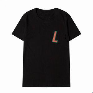 رجل مصمم القمصان l الرجال المرأة تي شيرت إلكتروني مطبوعة جودة عالية أسود أبيض قميص تيز حجم S-2XL