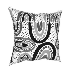 Cushion Decorative Pillow Australian Aboriginal Art Pillowcase Soft Fabric Cushion Cover Decorative Case Home Square Pillowcover Decor