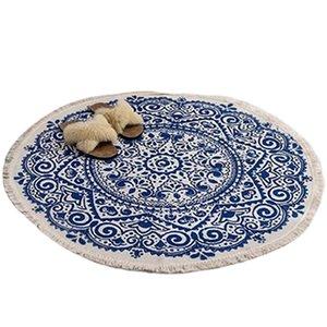 Carpets Morocco Round Carpet Bedroom Boho Style Tassel Cotton Rug Hand Woven National Classic Tapestry Sofa Cushion Tatami Floor Mats