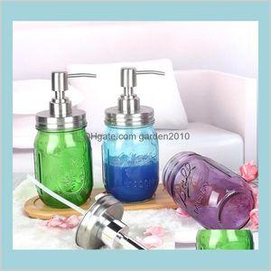 Storage Bottles & Jars Home Organization Housekeeping Garden Liquid Soap Dispenser Pump Glass Jar Stainless Steel Lid Dispensers Count