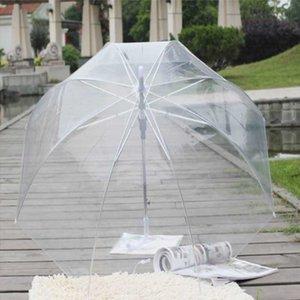 반자동 여성 투명 긴 손잡이 패션 맑은 거품 돔 모양 우산 야외 방풍 공주 잡초 장식