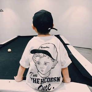 Kids T-shirts Children Shirts Boys Wear Summer Cotton Short Sleeve Casual Clothing Tops 4-10Y B4778