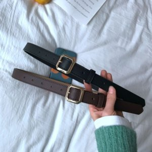qMM young people's belts general simple versatile fashion korean student's trousers south korea young people's general belt simple and vers