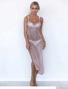 Women Sexy Knitting Swimwear Mesh Beach Dress Bikini Beach Cover-up Swimsuit Covers up Bathing Suit Summer Beach Wear