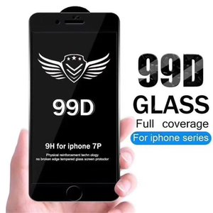Screen Protector 99D Curved Full Cover ProtectorTempered Glass Film For iPhone 6 7 8 11 12 13 Pro X XR XS Max samsung huawei xiaomi