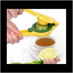 Kitchen, Dining Bar Home Garden Drop Delivery 2021 Aluminium Alloy Two In One Juicer Manual Squeezer Household Mini Lemon Clip Fruit & Vegeta