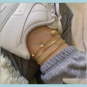 Gold Anklet Multi Layer Bracelet Summer Beach Fashion Jewelry Will And Sandy Gift Lioxs Anklets Hxibs