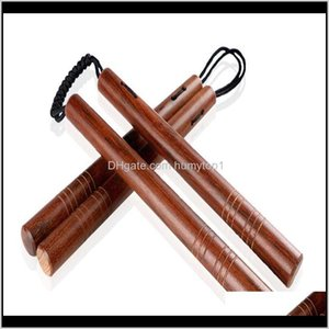 Martial Arts Fitness Supplies Sports Outdoors Drop Delivery 2021 Wholesale Rosewood Stainless Steel Selfdefense Actual Combat Nunchakus Combo