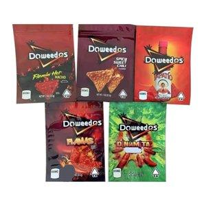 DoweEDOS Сумки упаковка Reazeable Divilbles Пустые Doweedos Capato Chips 600 мг Пакетный пакет Flamin Nacho Sweet Sweet Chili Chip Mylar Bag