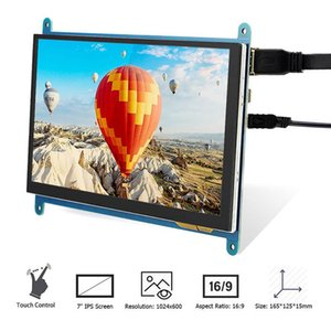 Monitors Raspberry Pi Display 7 Inch Capacitive Touch Screen 1024X600 HD LCD Monitor 7inch RPI For 4B 3B+