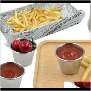 Bowls Stainless Steel Cups Potato Chips Tomato Paste Cup Restaurant Salad Sauce Dipping Bowls8626 J15T7 Rjcyl