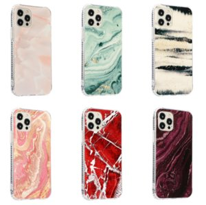 Aurora Marble Plating Stone Pattern phone cases for iphone13 pro max 12 min 11 X XR XS 7 8 plus SE case cover