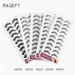 10 pairs Eyelashes Makeup Fake 3D Mink Natural False Eyelash Eyelash extension Faux Mink Lashes