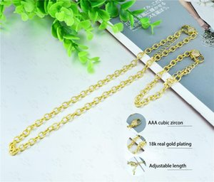 Hip Hop Necklaces Iced Out Stainless Steel Miami Cuban Chain Gold Color Zircon Necklace Bracelet Set For Mens Women Earrings &