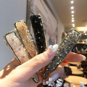 Luxury flash crystal diamond side clip net red super fairy hairpin Korean banger headdress