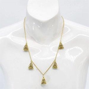 Earrings & Necklace Vintage Jewelry Sets Oxidized Silver Color Metal Bells Tassel Drop For Women Party Gypsy Bohemian Style