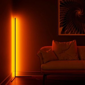 Floor Lamps Modern LED Decoration RGB Lamp Remote Control Atmosphere Bedroom Living Room Colorful Light Standing Lighting
