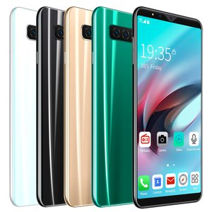 5.0'' Inch s10 4G+64G 8.0+16.0MP Cheap Mobile Phone Smart Phone Face Full Screen Unlock Android 8.0 8 Core Dual Sim SmartPhones DHL Express