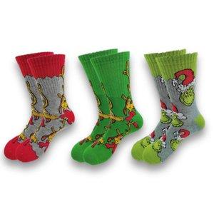 Men's Socks A Pair Of Autumn Winter Men Happy Funny Cartoon Anime Clown Long Cool Crew Street Fashion Sewing Pattern