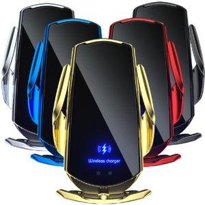 15W Q3 스마트 적외선 센서 빠른 무선 충전 자동차 공기 통풍구 마운트 휴대 전화 홀더 QI 무선 충전기 삼성 Huawei 안드로이드 전화